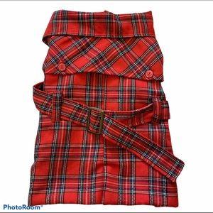 Cool Pet red plaid coat size large.